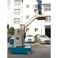 Wholesale 7.5m Self Propelled One Man Lift Mast Type 3 Meter For Outreach Work from china suppliers