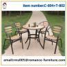 wicker/rattan/outdoor furniture wood metal frame outdoor furniture C604+T802 for sale