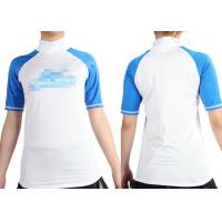 China Short Sleeve Lycra Rash Guards Surfing , body protection Shirt Size XS M for Girls on sale
