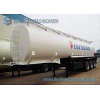 Quality Trapezoid Mild Steel Q345 Tri-Axle Fuel Tanker Semi Trailer 50000 Liters for sale
