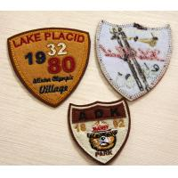 Wholesale PU Leather Embroidered Custom Sew On Patches RPET Fabric Plain Back. from china suppliers