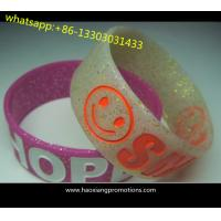 promotion!!! hot sale 1 inch custom silicone wristband with printing logo for sale