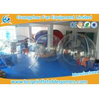 PVC / TPU Human Size Inflatable Walking Water Ball Sphere With Logo Printing
