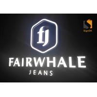Buy cheap LED Mini Acrylic Cast Channel Letters With Frontlit & Backlit Slope Shape from wholesalers