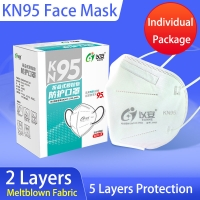 Wholesale 5 Ply Protective Hygiene Dustproof KN95 Face Mask from china suppliers