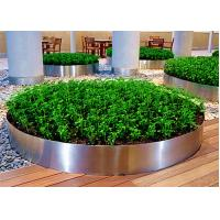 Wholesale Mirror Polished Round Planter Boxes Stainless Steel OEM / ODM Available from china suppliers