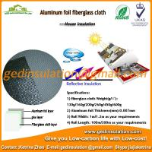 China Aluminum Foil Backed Fiberglass Cloth,Thin Heat Insulation Material on sale