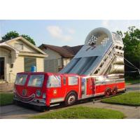 Wholesale Customized 15M Length Inflatable Fire Truck Slide With Logo Printing Rental from china suppliers