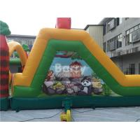 Quality Challenging Inflatable Obstacle Course Bounce House Red , Blue , Black for sale