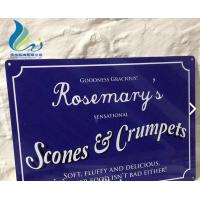 Wholesale Screen Alphabet Printed Antique French Enamel Signs Silk Screen Printing from china suppliers