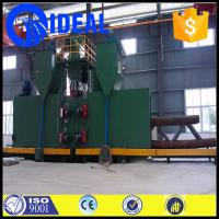 Quality heavy duty green color shot blasting machine with environmental dust collector for sale