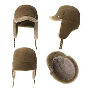 Wholesale Men 56cm Winter Leather Trapper Hat Warm With Fur from china suppliers