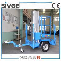 Wholesale Trailer Type Mobile Work Platform , 6 Meter Aluminum Self Propelled Manlift from china suppliers