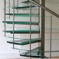 Quality Spiral staircase glass stairs glass balustrade for sale