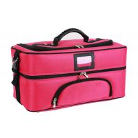 China Professional Travel Cosmetic Bags , Portable Fabric Cosmetic Organizer Bag for sale