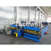 Buy cheap Automatic PLC Controlled Tile Roll Forming Machine For Steel Metal Glazed Tile from wholesalers