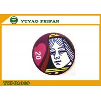 China Shuffle Poker Chips Queen Personalized Poker Gifts Heat Transfer Printing on sale