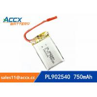 Quality rc helicopter battery 3.7v 902540 li polymer battery 750mah 25C high rate for sale