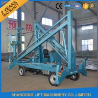 China Hydraulic Mobile Articulated Trailer Mounted Boom Lift with Battery / Diesel Power Source on sale