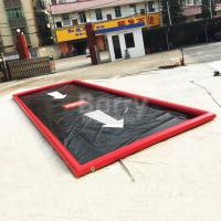 Wholesale Commercial PVC Inflatable Car Wash Mat Portable Water Containment / Water Reclamation Mat from china suppliers