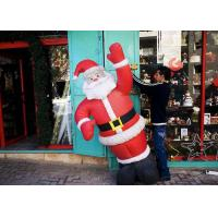 Wholesale 25 Ft / Customized Inflatable Advertising Products Giant Inflatable Santa For Shop from china suppliers