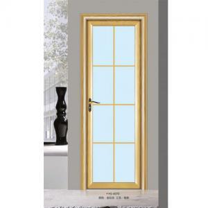 Buy cheap Silver Aluminium Glass Doors / Office Tempered Interior Glass Door from wholesalers