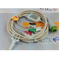 Wholesale 5 Leads Snap AHA ECG Patient Cable , Mindray 12 Pin One Piece ECG Cable from china suppliers