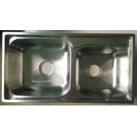 Big ans Small Bowl Stainless Steel Kitchen Sink WY-7540D for sale