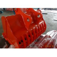 Wholesale Doosan DX 480 Excavator Screening Bucket , Excavator Bucket Attachments 2.85 Cum Capacity from china suppliers