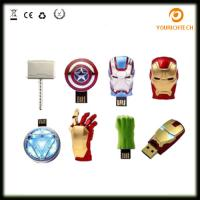 Wholesale Avengers USB Flash Drive 4G Iron Man 8G Pen Drive 16G Captain America 32G USB Stick Hulk Thor PenDrive U Disk USB Drive from china suppliers