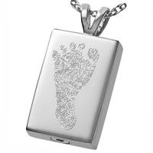 Quality Footprint Brass Cremation Jewelry Pendants Men Memorial No Nickel for sale