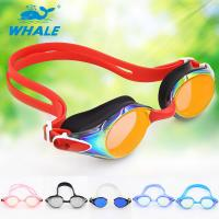 Wholesale Swim Team Goggles Competitive Swim Goggles With Anti - Fog Lens And Nosebridge from china suppliers