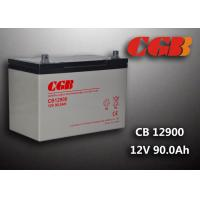 Wholesale 12V 90ah Solar System Battery , CB12900 Agm Battery Low Self Discharge from china suppliers