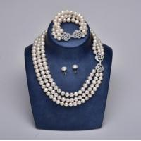 Buy cheap high quality freshwater pearl necklace jewelry set for sale from Wholesalers