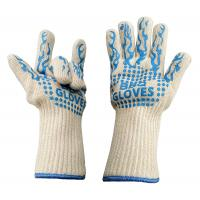 China White Heat Resistant Work Gloves , Heat Resistant Oven Gloves CE Approved on sale