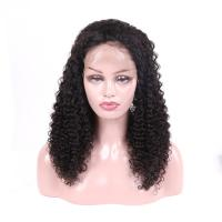 Wholesale Unprocessed Brazilian Full Lace Wigs Human Hair Jerry Curly No Tangling from china suppliers