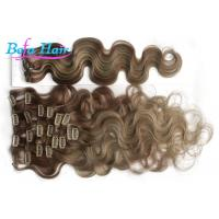 Wholesale Ash Blonde Loose Wave Clip In Brazilian Human Hair Extension 10 Inch With No Shedding from china suppliers