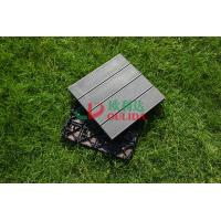 China WPC Non Slip Composite Wood Deck Tiles , 100% Recycle Outdoor Interlocking Deck Tiles on sale