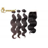 Wholesale 100% brazilian Real Human Hair Lace Closure Body Wave hair Weave from china suppliers
