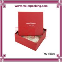 Wholesale Sliver logo jewelry paper gift box/colorful printed paper packing box wholesale ME-TB026 from china suppliers