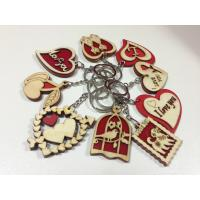 Wholesale wood promotional gifts mini wood keychain letter key chain heart shaped crafts from china suppliers