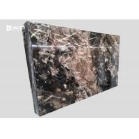 Xiamen service fantasy black marble glossy polished 18cm beautiful veins for sale