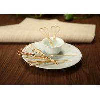 Wholesale Disposable Bamboo Knot Cocktail Picks , Round Long Marshmallow BBQ Skewers from china suppliers