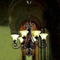 Wholesale Crystal Lighting Chandelier, Measures 780 x 860mm, Made of Steel Structure from china suppliers