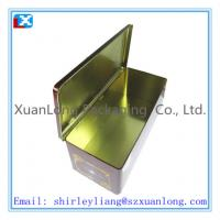 Wholesale metal rectangle wine tin box from china suppliers