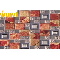 Wholesale Leaf Interior Floor Stainless Steel Mosaic Tile , Decorative Metal Wall Tiles from china suppliers