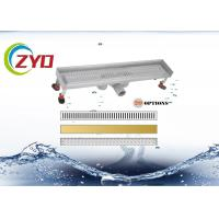 China Deodorant Shower Linear Drain , Fold Edge Low Profile Linear Shower Drain on sale