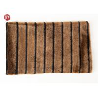 high quality Short Pile mink Faux Fur Fabric Coffee Black Groove