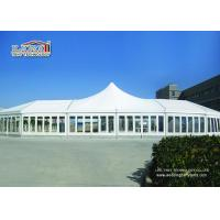 Wholesale White High Peak Luxury Wedding Party Tents Waterproof  With Clear Windows from china suppliers