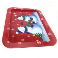 China Different Colors Custom Packaging Boxes CC Christmas Rectangular Tin Plates / Cups for sale